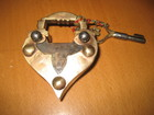 Heart Shape Brass Puzzle Lock