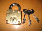 Brass Square Puzzle Lock